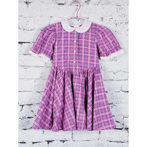 OSHKOSH Circle Skirt Plaid Dress